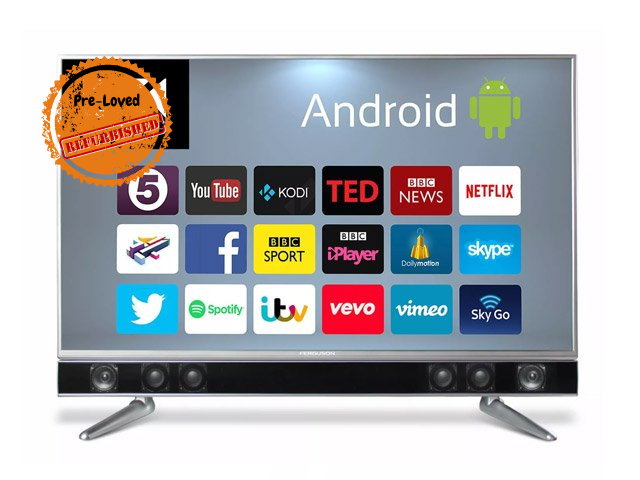"Refurbished Ferguson 55"" Sound Bar Android 4k Smart TV hiya!"