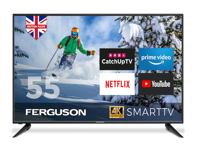 "Ferguson 55"" 4K, Ultra HD, LED Smart TV with Wi-Fi and Freeview T2 HD hiya!"